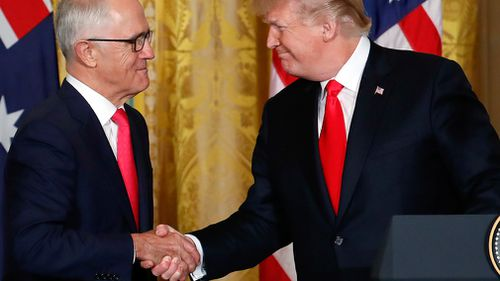 Malcolm Turnbull met with Donald Trump at the White House in February (AAP)