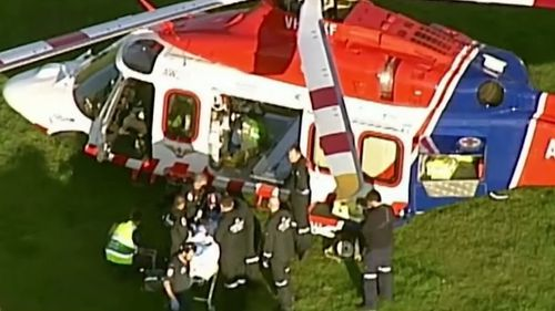 The man and woman were airlifed to Alfred Hospital in Melbourne.