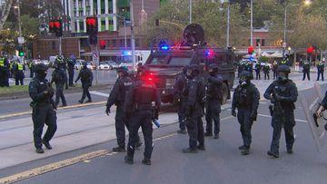 Police slam 'cowards' involved in Melbourne protest