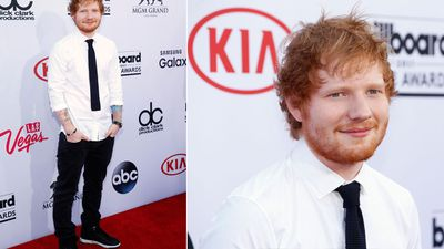 Ed Sheeran kept it casual with his shirt untucked. (AAP)