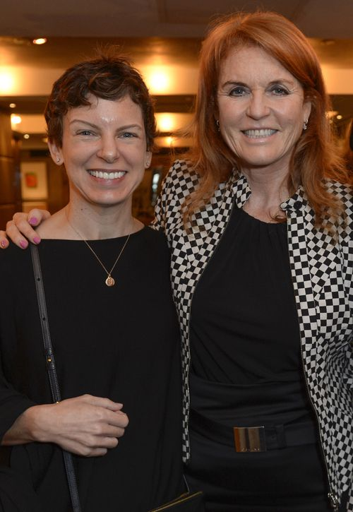 Sara Bronfman - the subject of a lawsuit relating to sex cult NXIVM - with the Duchess of York  Sarah Ferguson