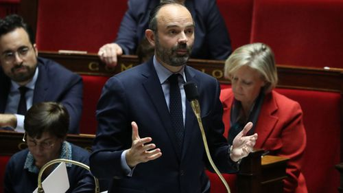 "French Prime Minister Edouard Philippe announced contingency plans to deal with a ""hard Brexit""."