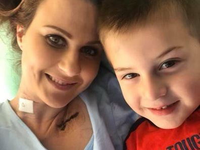 Victoria McGee with her son.