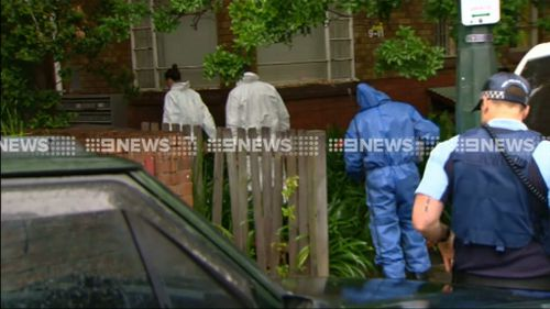 A crime scene was established at the home. (9NEWS)