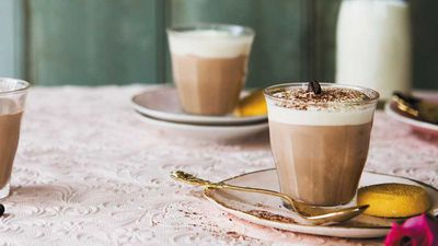 """<p><a href=""""http://kitchen.nine.com.au/2016/12/08/16/29/caffe-latte-mousse-cups"""" target=""""_top"""">Caffe latte mousse cups</a></p> <p><a href=""""http://kitchen.nine.com.au/2016/06/06/18/40/treat-yourself-to-our-favourite-chocolate-recipes"""" target=""""_top"""">More chocolate desserts with wow-factor</a></p>"""