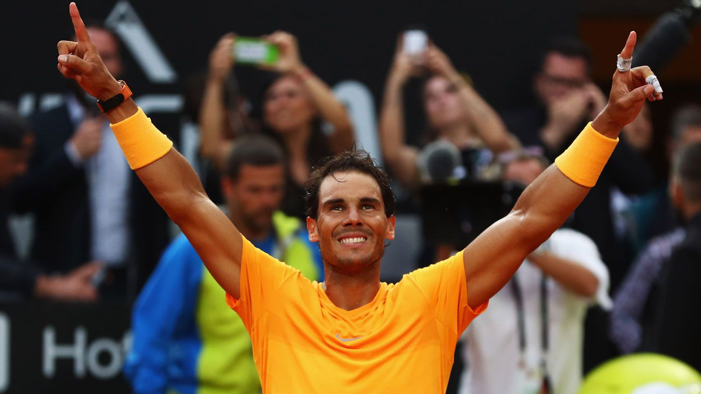 Fighting Rafael Nadal reclaims world No.1 after win over Alexander Zverev at Italian Open