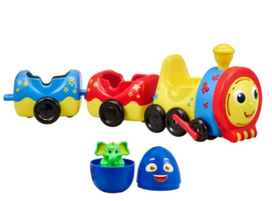 This toy is part of a series based on the Chu Chu Surprise show.