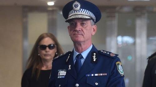 Andrew Scipione at the inquest today. (AAP)