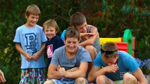 Five of Jodi and Andrew McMahon's sons. (60 Minutes)