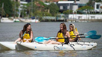 Brisbane River kayaking