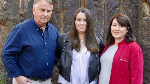 Ralph, Madeleine and Kathy Kelly - a family of three. (60 Minutes)