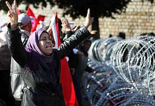 Female Arab Spring protester (Getty)