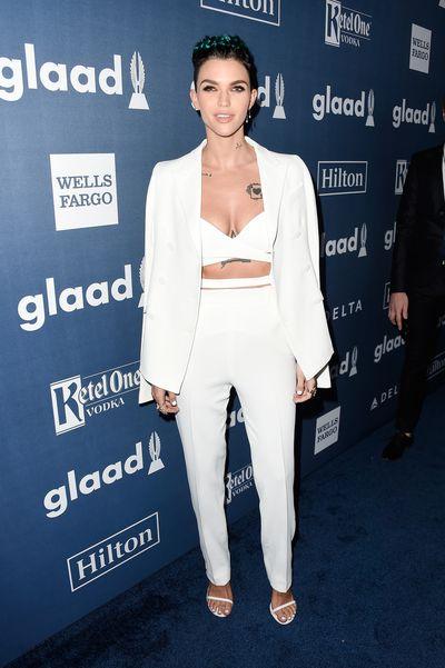 Ruby Rose inAquilano Rimondi at the 2016 GLAAD Awards