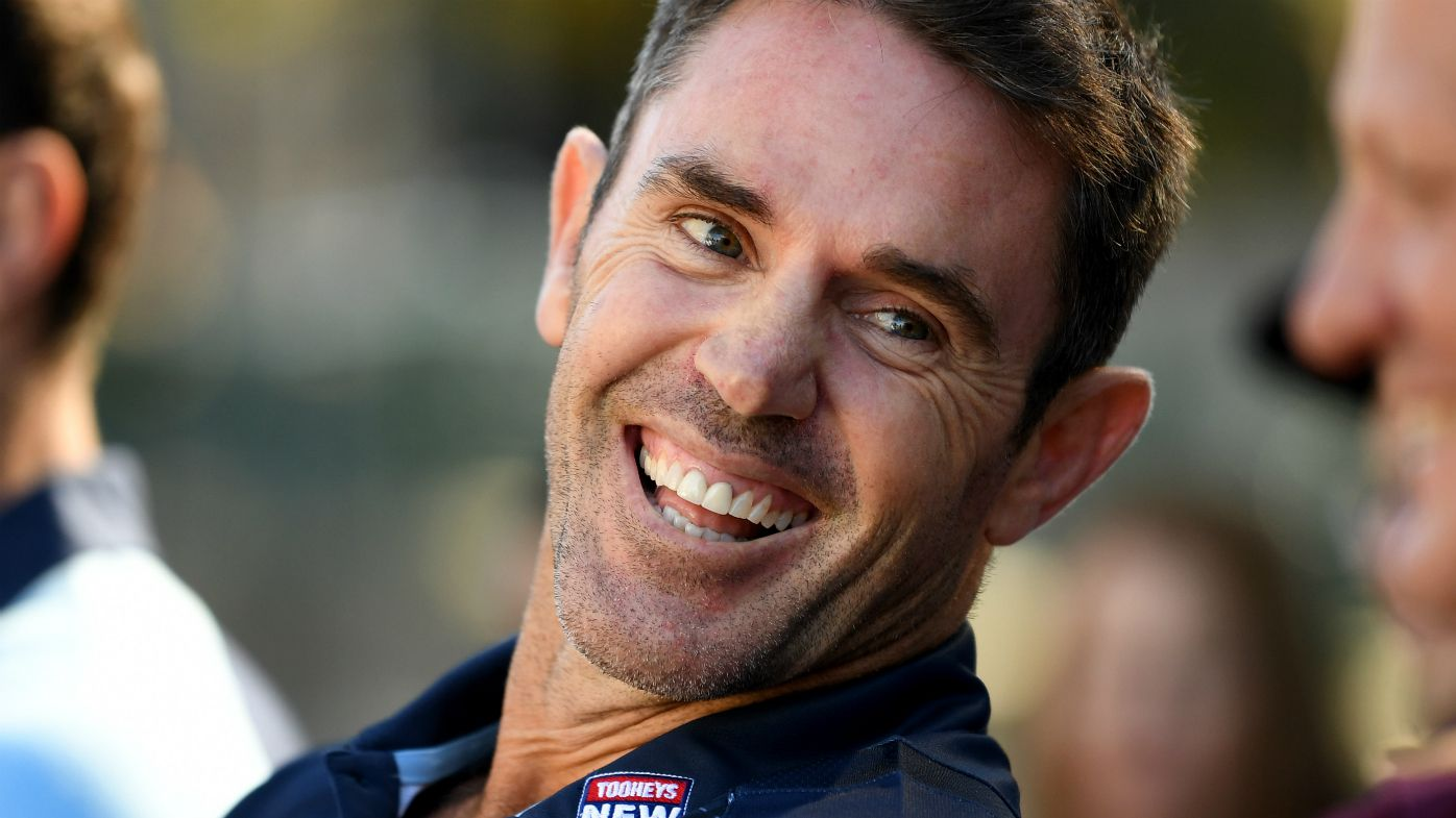 NSW Blues coach Brad Fittler smiles