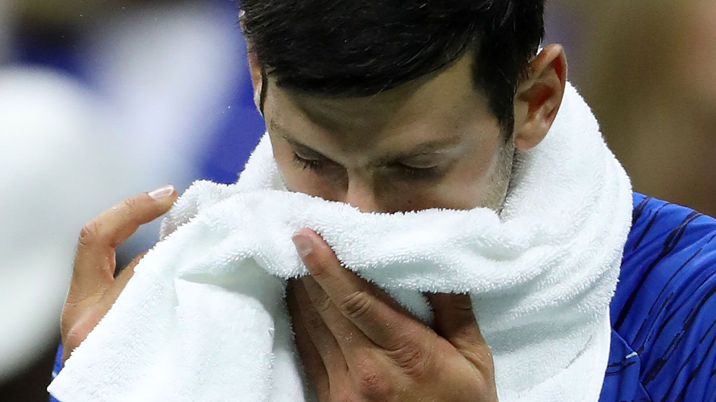 Novak Djokovic retires from round four US Open match against Stan Wawrinka