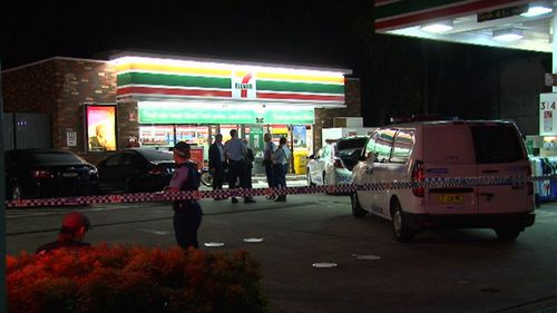 The 7-Eleven store in Enmore where the alleged attacks took place. Picture: 9NEWS