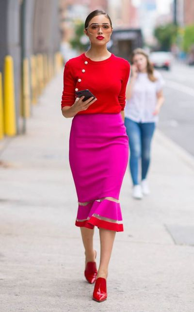 <p>Once considered very much a fashion faux pas, the red and pink combo is back and better than ever.</p> <p> The once-taboo combination is breaking all the rules and we are all for it.&nbsp; </p> <p>Destined to be the season&rsquo;s must-have colour pairing, we&rsquo;re seeing fashionistas such as Sarah Jessica Parker, Heidi Klum, Oilivia Culpo (left), and Bec Judd all rocking the trend.</p> <p>If you want to embrace this palette, (um, yes), here is our edit of the best pieces to buy right now&hellip;</p>