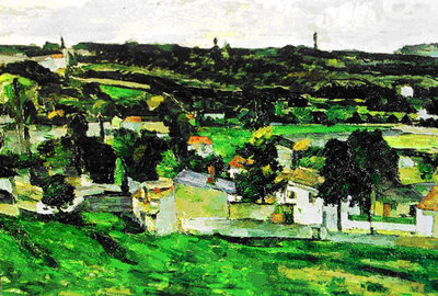 <strong><em>View of Auvers-sur-Oise </em>byPaul Cézanne</strong>
