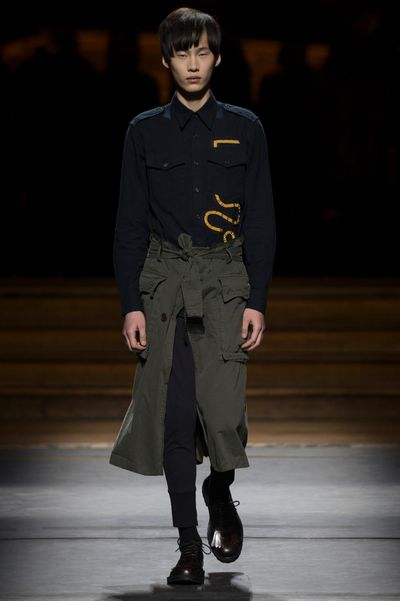 <p>From shirting to skirts, the menswear collections had plenty to offer the fairer sex.&nbsp;</p><p>Dries Van Noten</p>