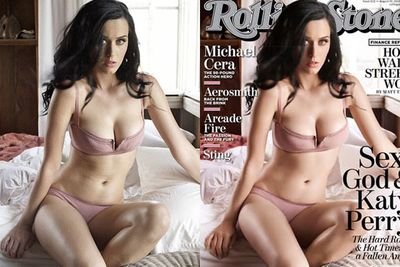 Katy Perry was slimmed down to grace the cover of <i>Rolling Stones</i> in 2011. <br>