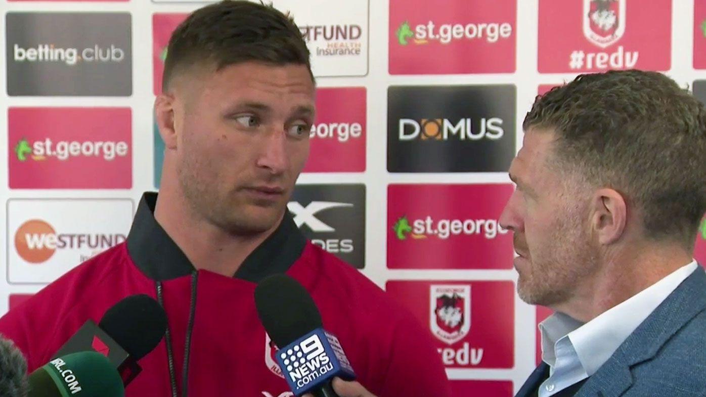 NRL: Slumping St George Illawarra Dragons take onus for Ben Hunt