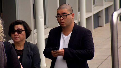 Bronko Hoang outside court today.