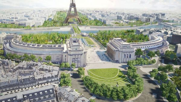 Paris rendering of development plans for 2024 Olympics