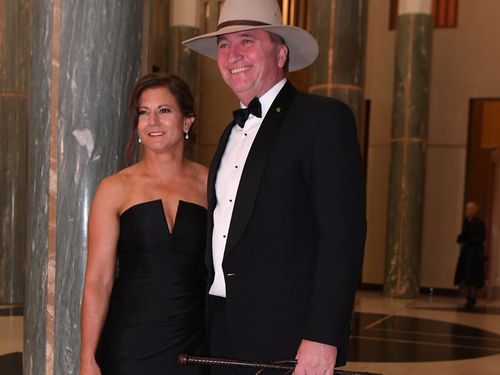 Barnaby Joyce and his then wife Natalie at last year's ball.