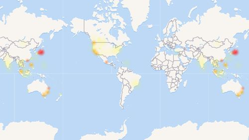 The outage is reportedly affecting a number of countries across the globe. (Down Detector)