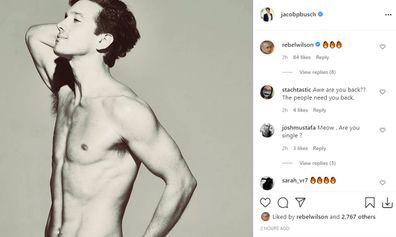 Rebel Wilson seen commenting on her ex-boyfriend Jacob Busch's topless photo.