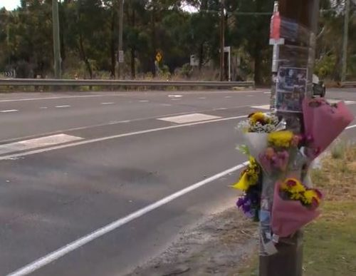 A floral tribute has been placed at the site of the crash.