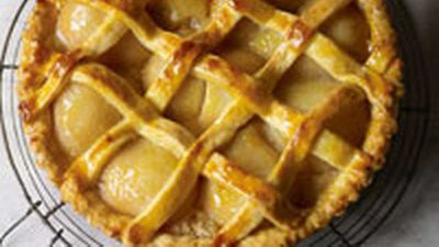 "Recipe:&nbsp;<a href=""http://kitchen.nine.com.au/2016/05/19/13/37/pear-tart"" target=""_top"">Pear tart</a>"