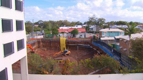 Excavators remain on scene. (9NEWS)
