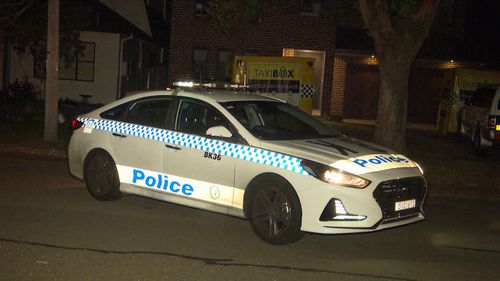 NSW Police said officers arrived to find a 35-year-old man with a single gunshot wound to his left leg.