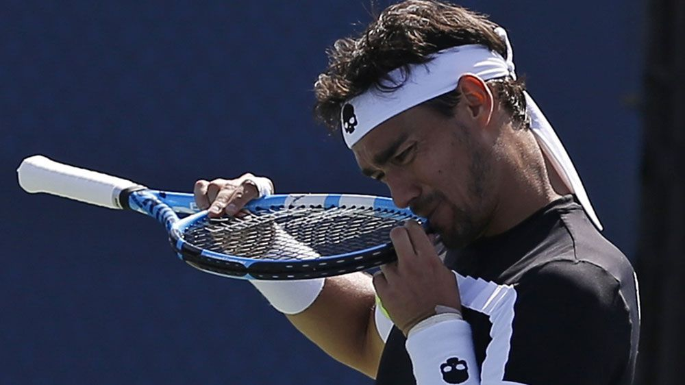 Tennis: Fabio Fognini kicked out of US Open after calling chair umpire a 'whore'