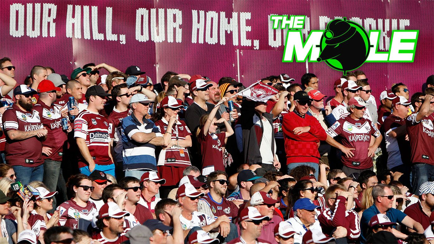 Manly fans on the hill at Brookvale Oval.