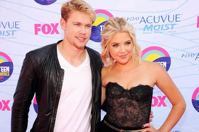 <i>Glee</i>'s Chord Overstreet and <i>Pretty Little Liars</i>' Ashley Benson.