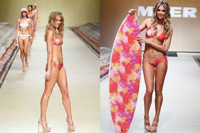 "Surfs up, Hawko! She's so Aussie, she's even designed her own line of bikini's called ""Cosi""."