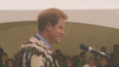 Prince Harry said he was delighted to be in New Zealand. (Supplied)