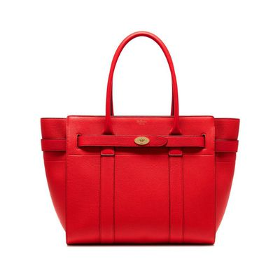 "<a href=""http://www.mulberry.com/sa/shop/women/bags/shoulder-bags/new-bayswater-fiery-red-small-classic-grain"" target=""_blank"">Mulberry Bayswater in Fiery Red Small Classic Grain, $1595.</a>"