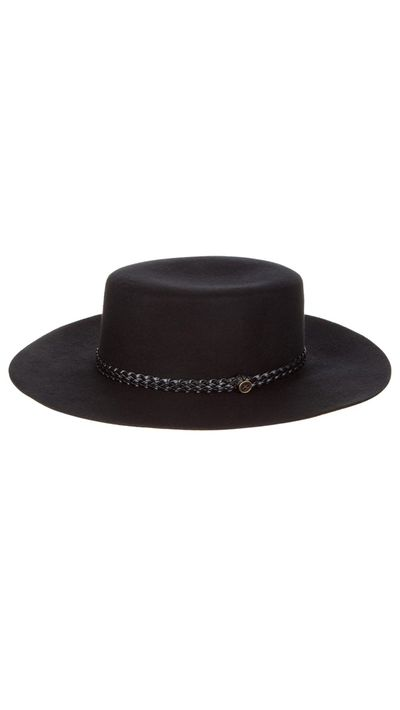 "<a href=""http://www.fallenbrokenstreet.com/shop/the-trix-black"" target=""_blank"">Trix Hat, $119.95, Fallen Broken Street</a>"