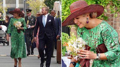 Queen Maxima stuns in emerald gown, September 2021