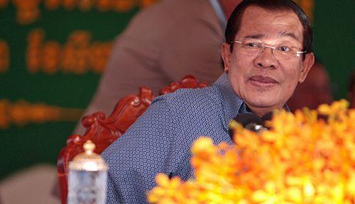 Cambodia Prime Minister Hun Sen. AFP.
