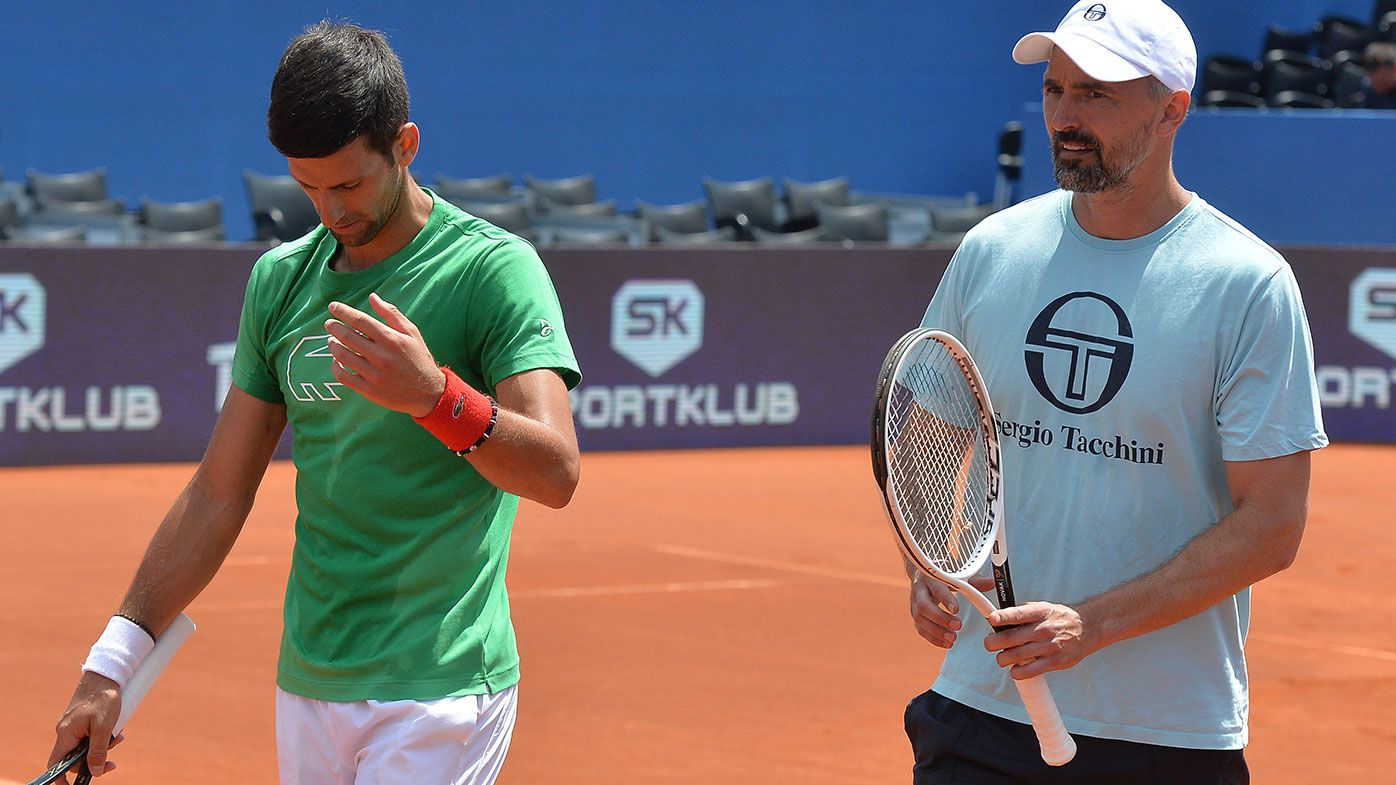 Novak Djokovic and Goran Ivanisevic.