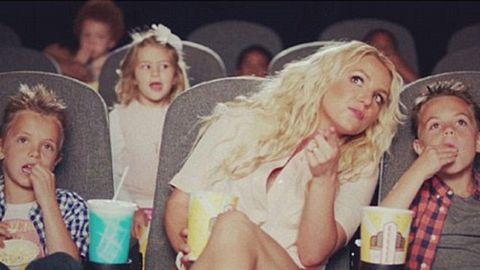 Watch: Britney's kids star in Smurfs music clip