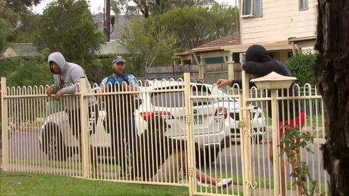 Police are now hunting for the gang. (9NEWS)