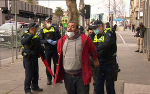 Coronavirus: Seven arrested and dozens fined at Melbourne 'Freedom Day' anti-mask protest