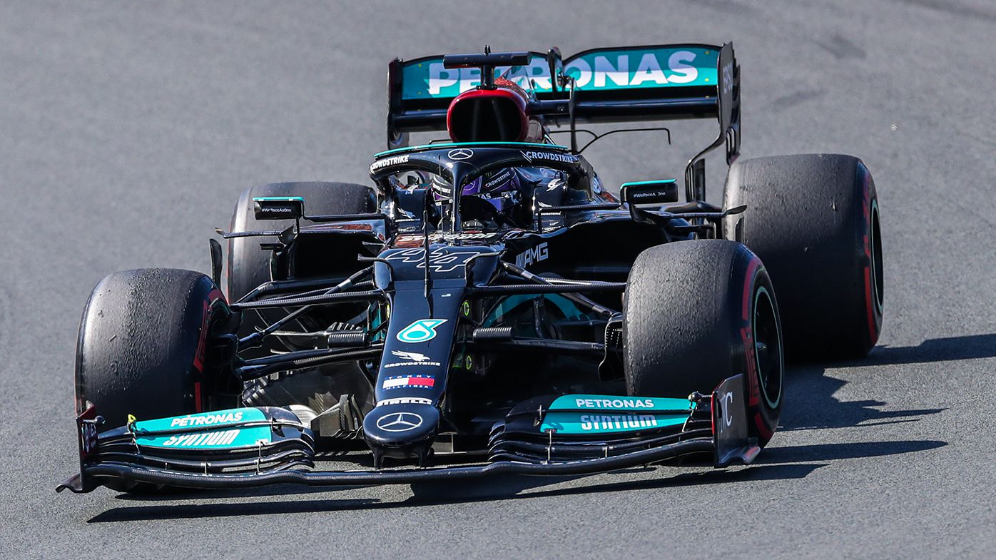 Lewis Hamilton on his way to second place at the Dutch Grand Prix.