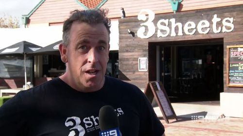 "3Sheets owner Toby Evans says the couple will get their ""just desserts"" in the end. (9NEWS)"