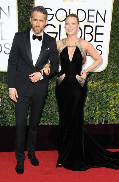 Blake Lively and Ryan Reynolds at the 74th Annual Golden Globe Awards held at The Beverly Hilton Hotel on January 8, 2017